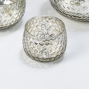 Silver Honeycomb Tea Light Holder